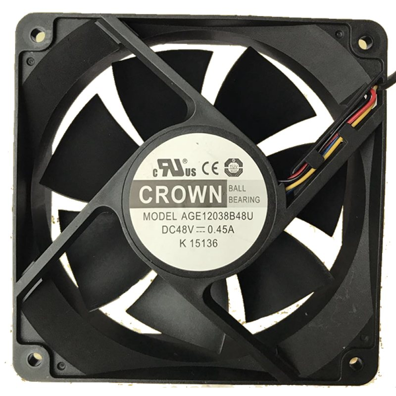 CROWN AGE12038B48U IP55 DC48V 0.45A cooling fan