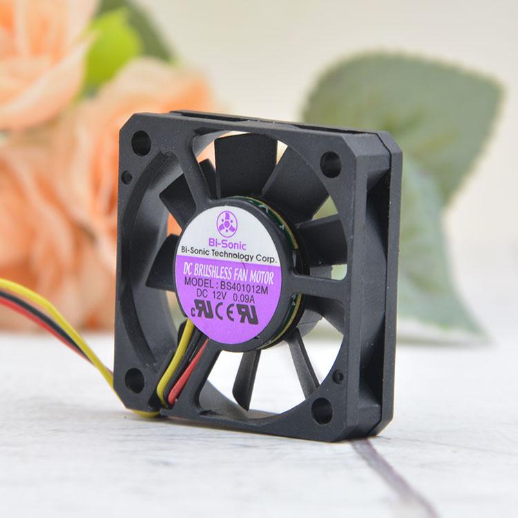 Bi-Sonic BS401012M DC12V 0.09A 3pin cooling fan
