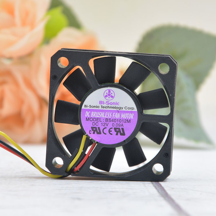Bi-Sonic BS401012M DC12V 0.09A 3pin cooling fan