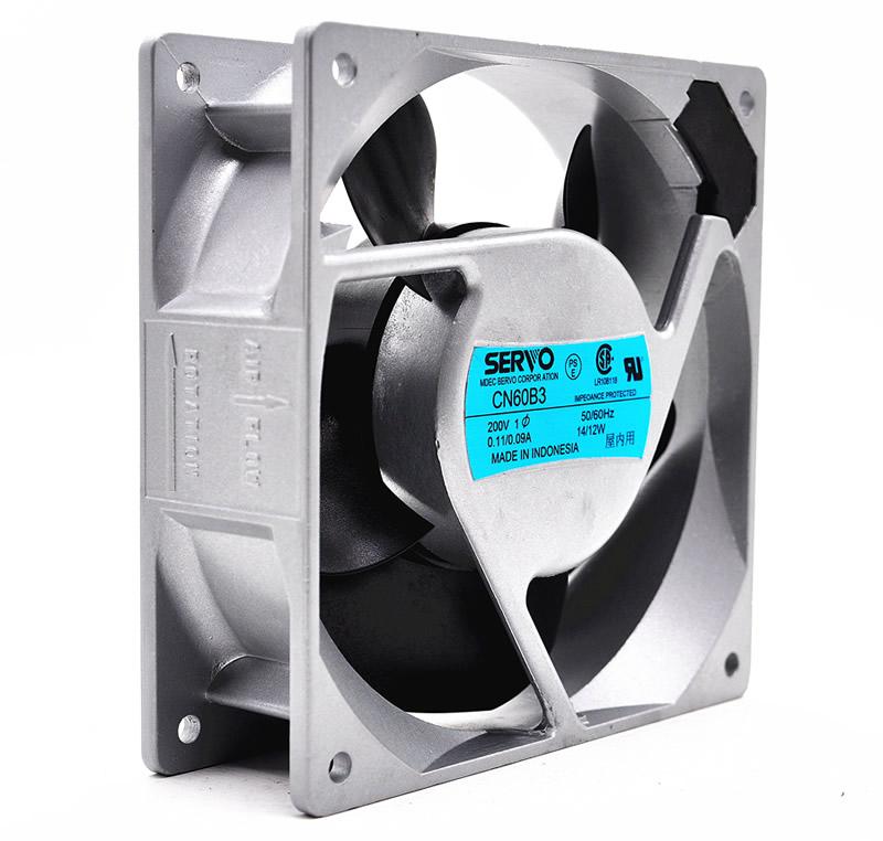 SERVO CN60B3 AC200V 0.11A/0.09A 13W/11W 2-Wires Inverter Cooling Fan