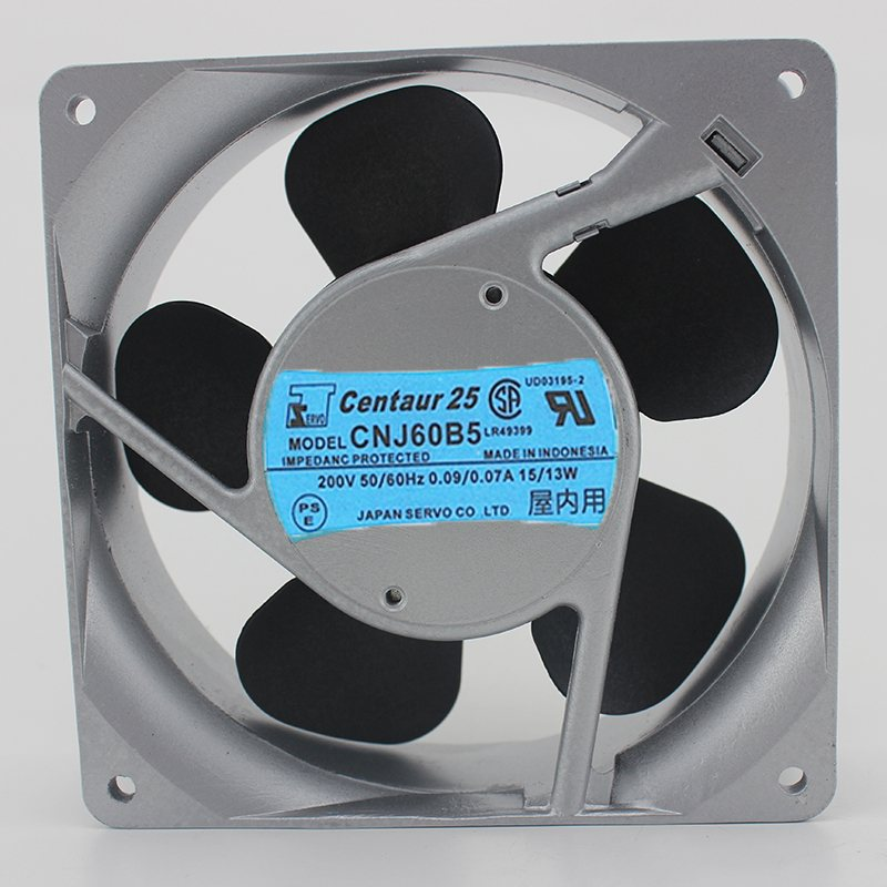 Servo CNJ60B5 AC200V 0.09A/0.07A 15/13W 50/60HZ 3200RPM 2-Wires Cooling Fan