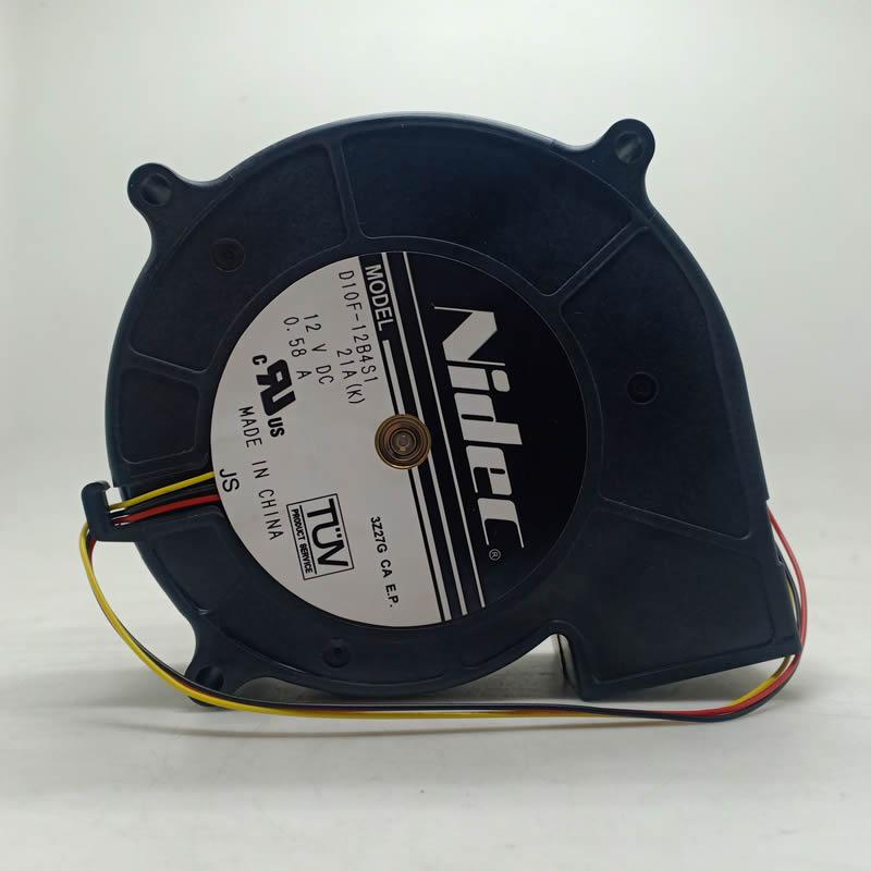 Nidec D10F-12B4S1 DC 12V 0.58A 3-Lines projector cooling fan
