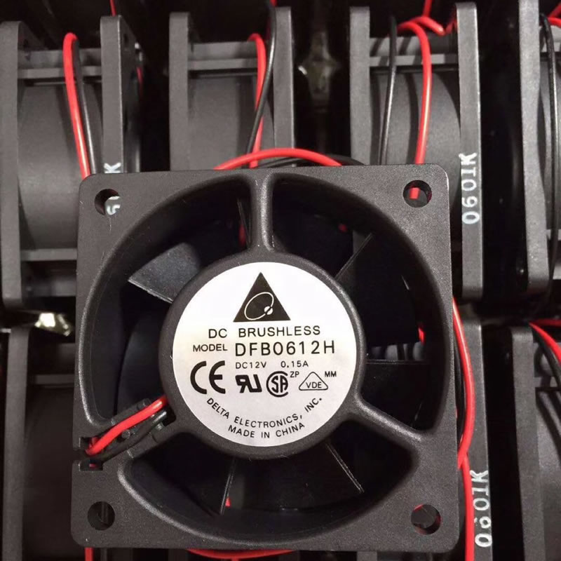 Delta DFB0612H DC12V 0.15A 2-wires cooling fan