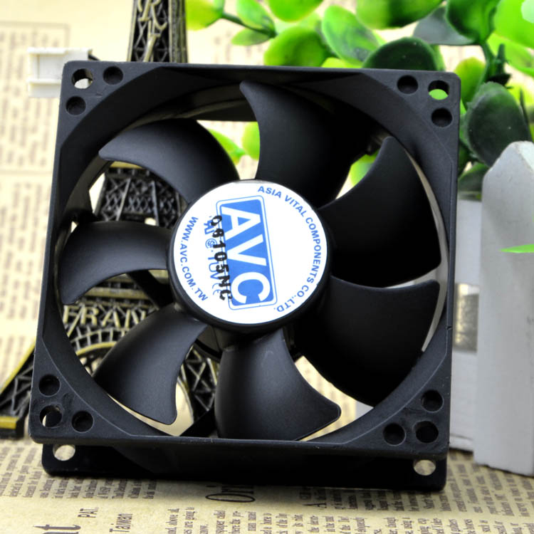 AVC DS08025T12UP033 DC12V 0.7A 4-Wires Axial Cooling Fan