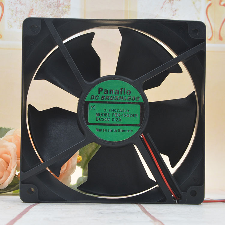 Panaflo FBK-12G24M DC24V 0.2A 3-Wires Industrial Equipment Cooling Fan