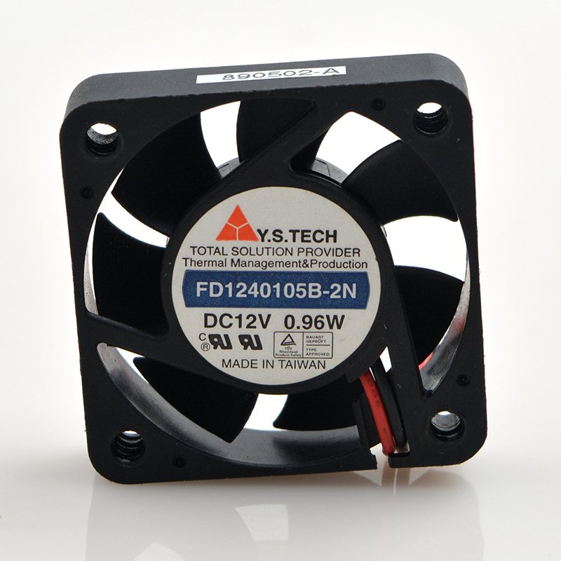 Y.S.Tech FD1240105B-2N DC12V 0.96W 2-wire cooling fan
