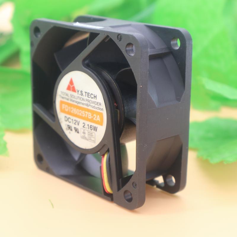 Y.S.TECH FD1260255B-2A DC12V 1.44W 3-wire Cooling Fan