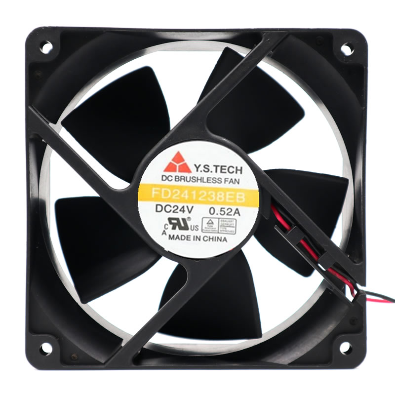 Y.S.TECH FD241238EB DC24V 0.52A Double Ball Bearing Cooling Fan