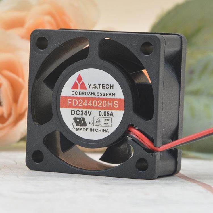 Y.S.TECH  FD244020HS DC24V 0.05A printer cooling fan