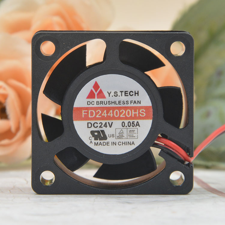 Y.S.TECH  FD244020HS DC24V 0.05A printer cooling fan