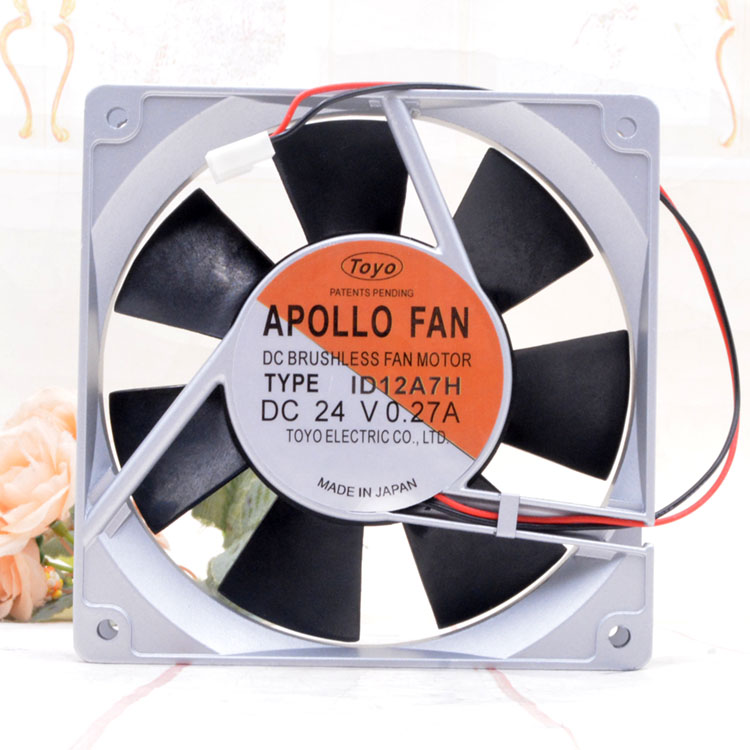 APOLLO FAN ID12A7H DC24V 0.27A 12cm cooling fan