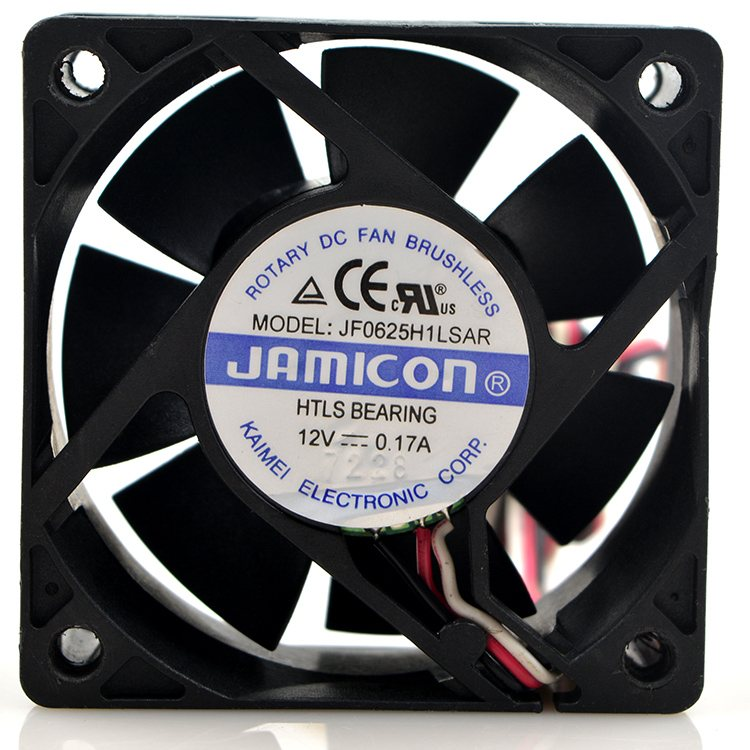 JAMICON JF0625H1LSAR DC 12V 0.17A 6CM 3-wires cooling fan