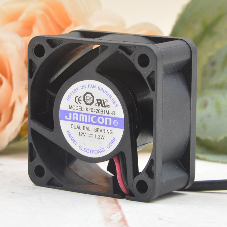 JAMICON KF0420B1M-R DC12V 1.3W  2-wire cooling fan