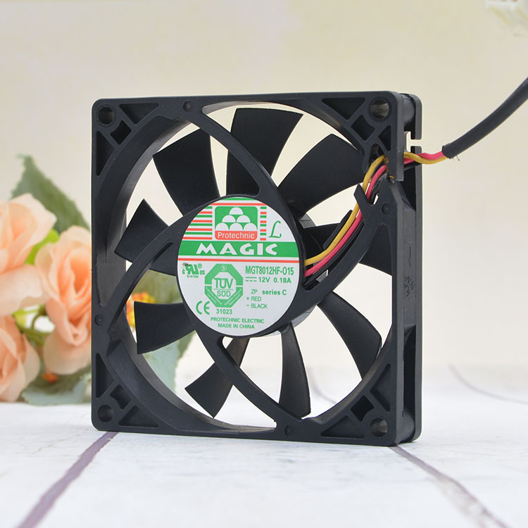 Magic MGT8012HF-015  DC12V 0.18A three-wire cooling fan