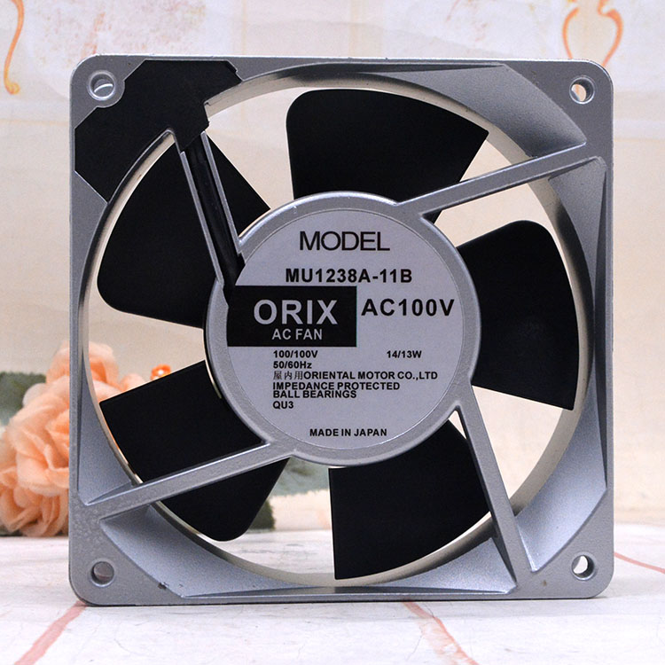 ORIX MU1238A-11B AC 100V 14W 120x120x38mm Server Cooling Fan