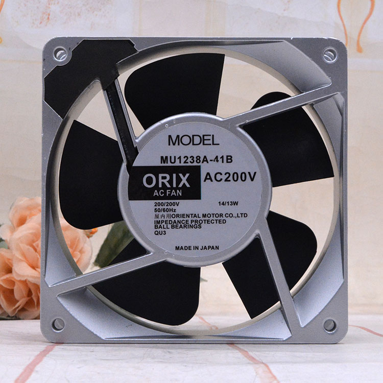ORIX MU1238A-41B AC 200V 14/13W 120x120x38mm Server Cooling Fan
