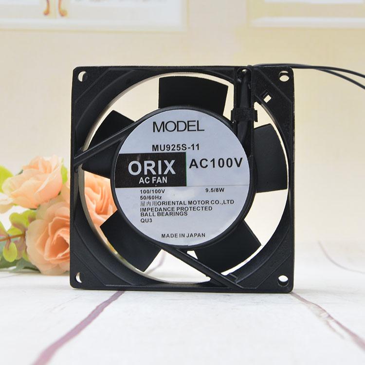 ORIX MU925S-11 AC 100V 9.5/8W 90x90x25mm Server Cooling Fan