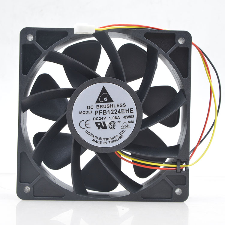 Delta PFB1224EHE BW68 DC 24V 1.08A Ball Bearing Cooling Fan