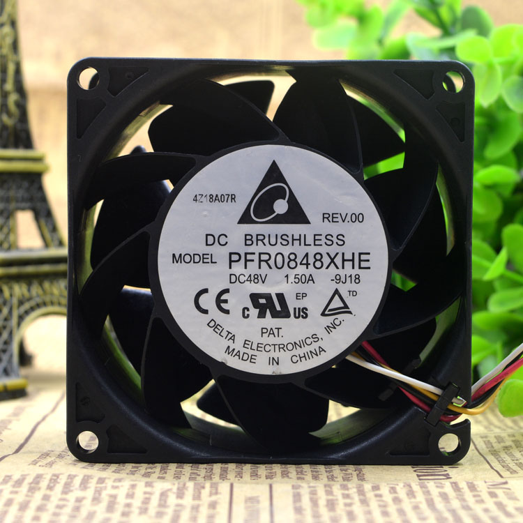 PFR0848XHE DC48V 1.50A delta 4-wire cooling fan
