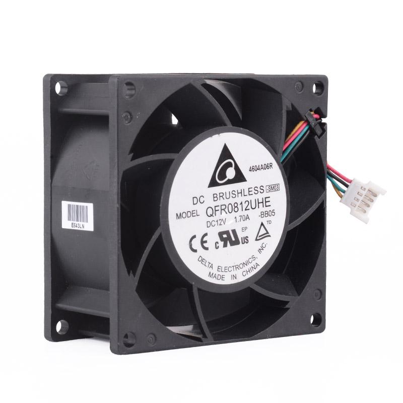 Delta QFR0812UHE DC12V 1.70A 2.50A 4Lines Computer cooling fan