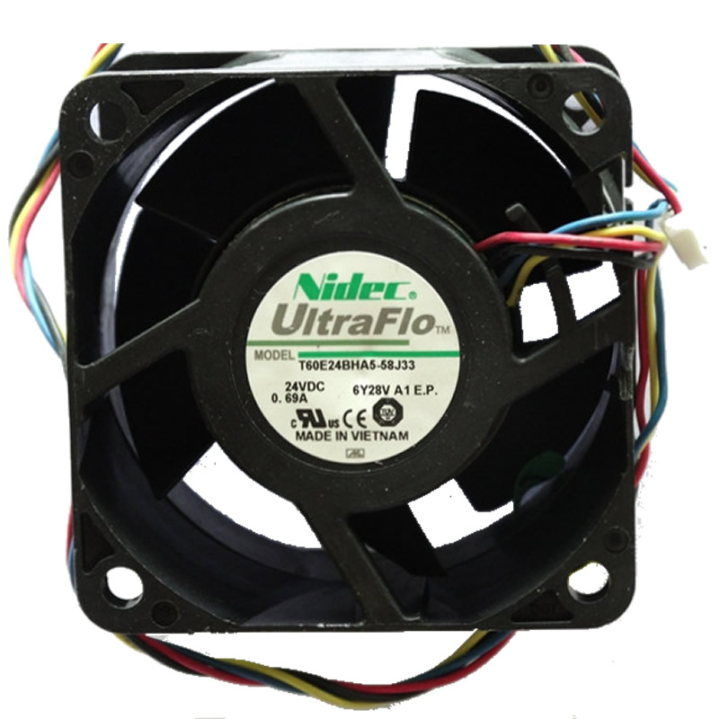 Nidec T60E24BHA5-58J33 DC24V 0.69A 4line two ball bearing cooling fan