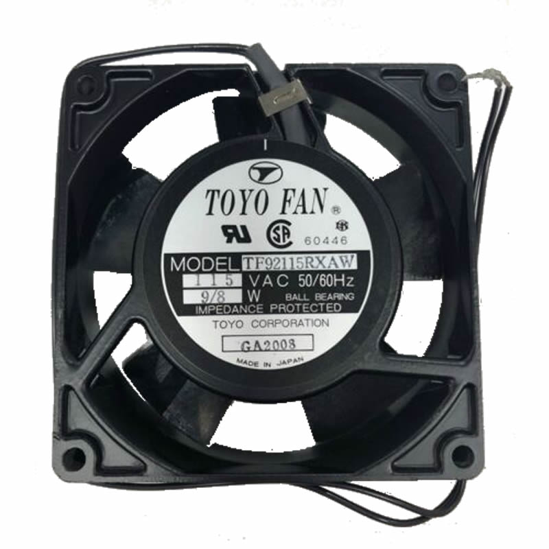 TF92115RXAW 115VAC 50/60Hz 9/8W Ball Bearing Toyo Fan