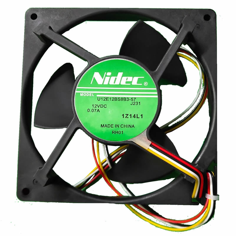 Nidec U12E12BS8B3-57 J231 DC12V 0.07A 12cm for refrigerator cooling fan