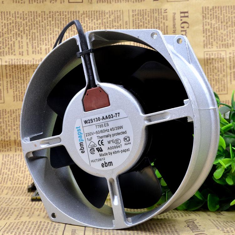 ebmpapst W2S130-AA03-77 AC230V 45W 2-wire Server Cooling  Fan
