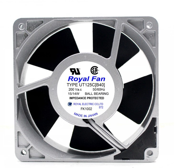 Royal Fan UT125C[40] AC200V 15/14W Server Cooling Fan