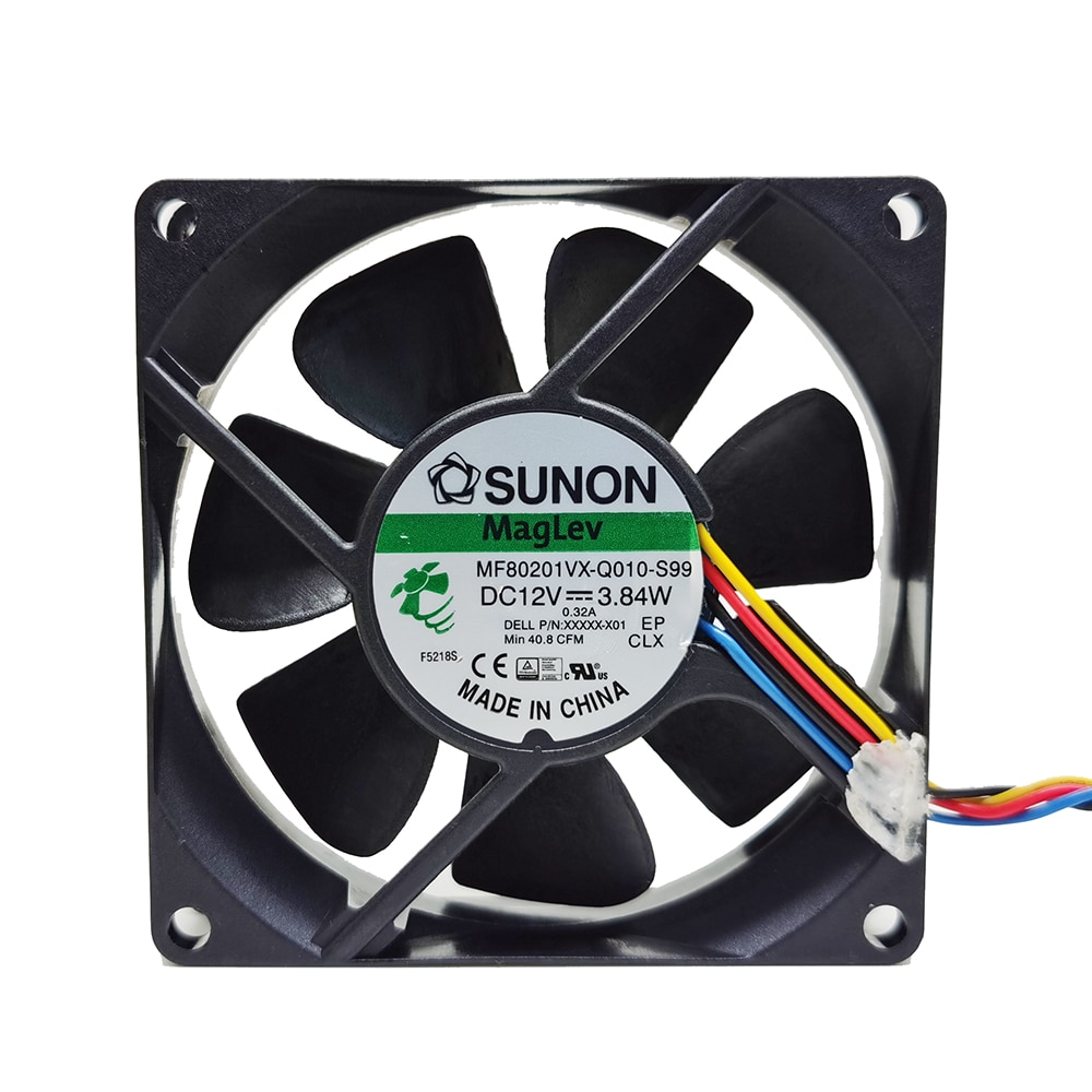 SUNON MF80201VX-Q010-S99 DC12V 3.84W 4wires cooling fan