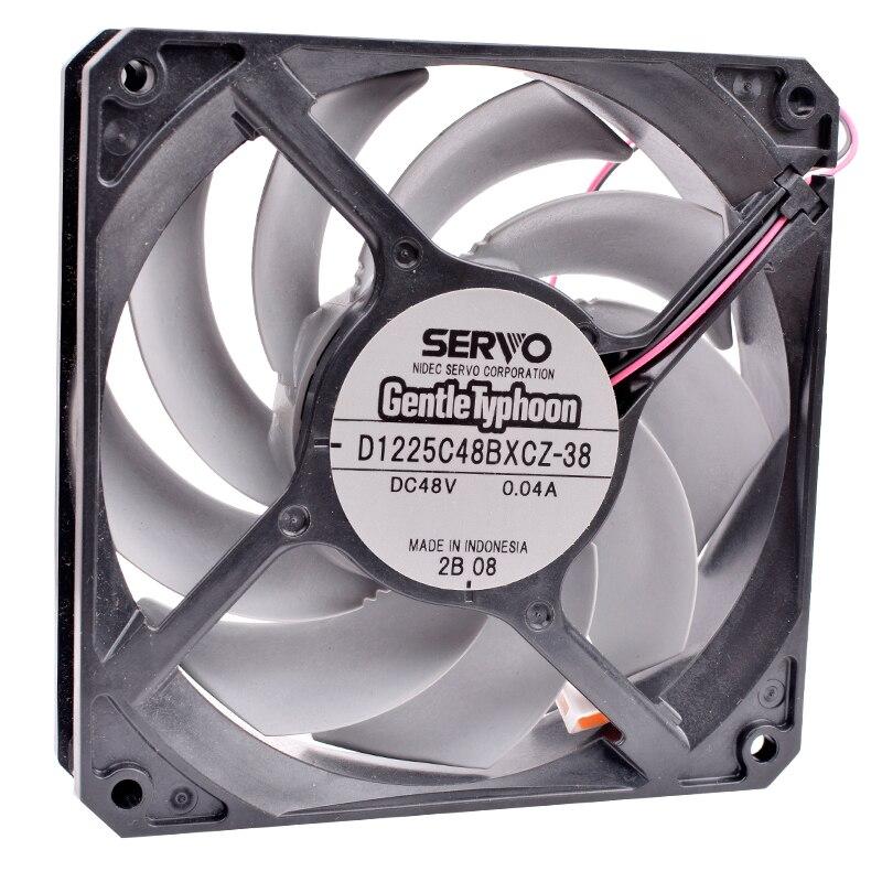SERVO D1225C48BXCZ-38 DC48V 0.04A 2-wire quiet inverter cooling fan