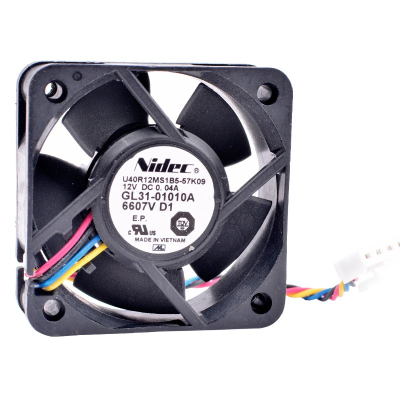 Nidec U40R12MS1B5-57K09 DC12V 0.04A quiet 4-wires cooling fan