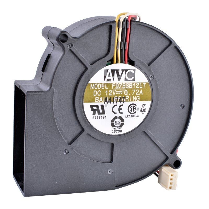 AVC F9733B12LT DC12V 0.72A Ball Bearing Server Fan