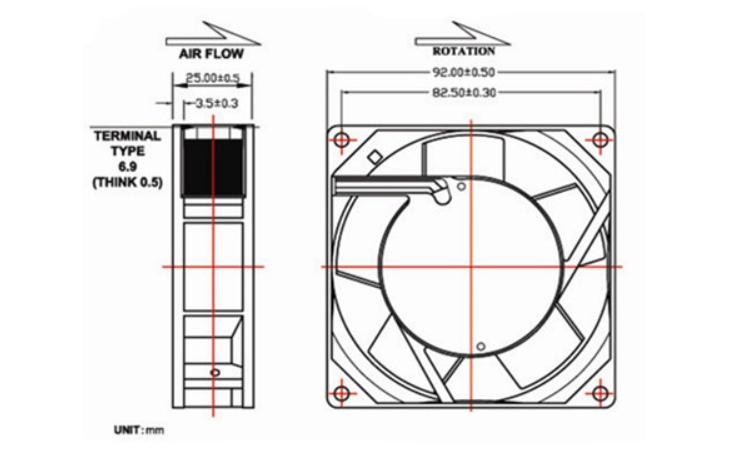SANJUN SJ92025HA1 AC110V 0.12A Dual ball bearing cooling fan