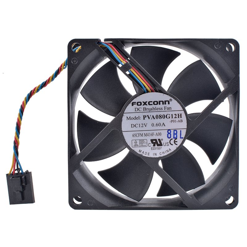 Foxconn PVA080G12H DC12V 0.60A server cooling fan