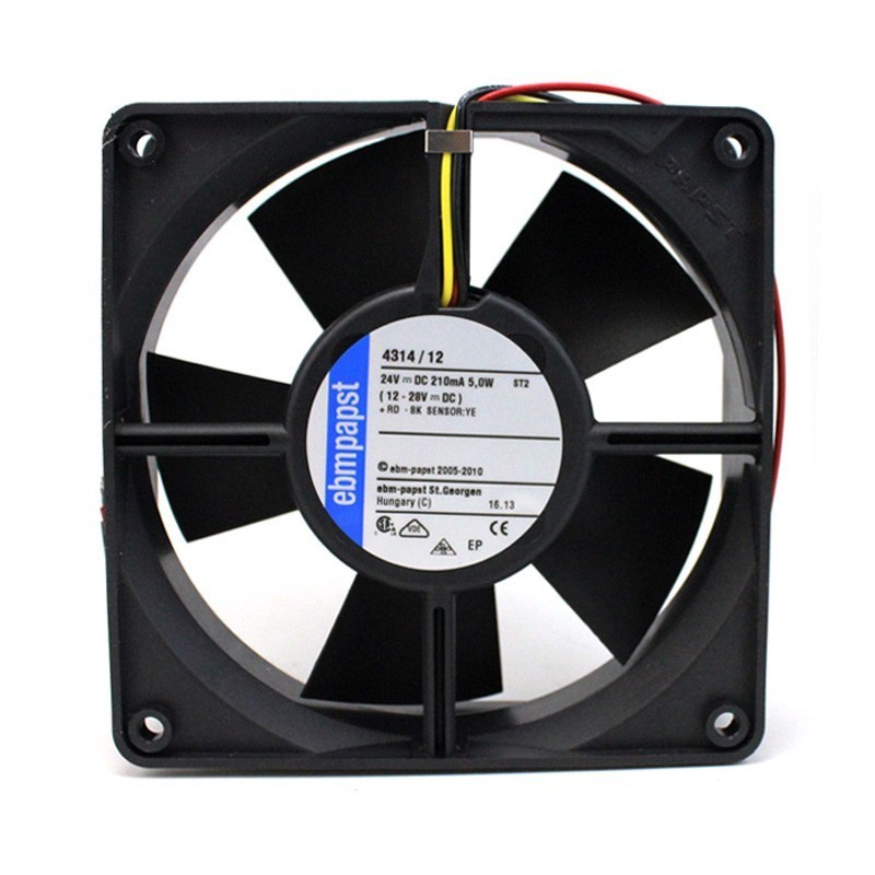 Ebmpapst 4314/12 DC24V 0.21A 5W Ball Bearing 3Lines Cooling Fan