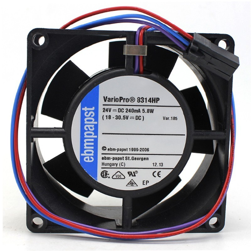 Ebmpapst 8314HP DC24V 0.24A 5.8W Server Square Cooling Fan