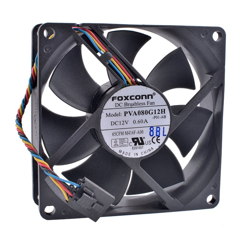 Foxconn PVA080G12H DC12V 0.60A server cooling fan