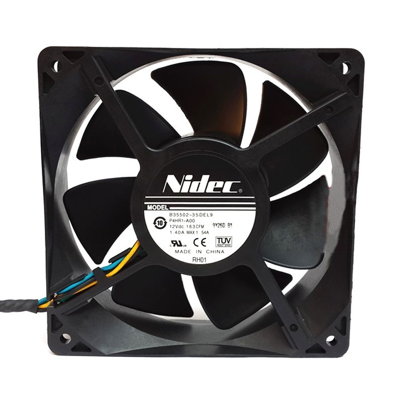 Nidec B35502-35DEL9 P4HR1-A00 12V 1.40A 4-Line Double Ball Bearing Cooling Fan