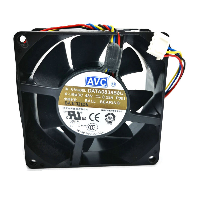 AVC DATA0838B8U DC48V 0.29A 4-wire Cooling Fan