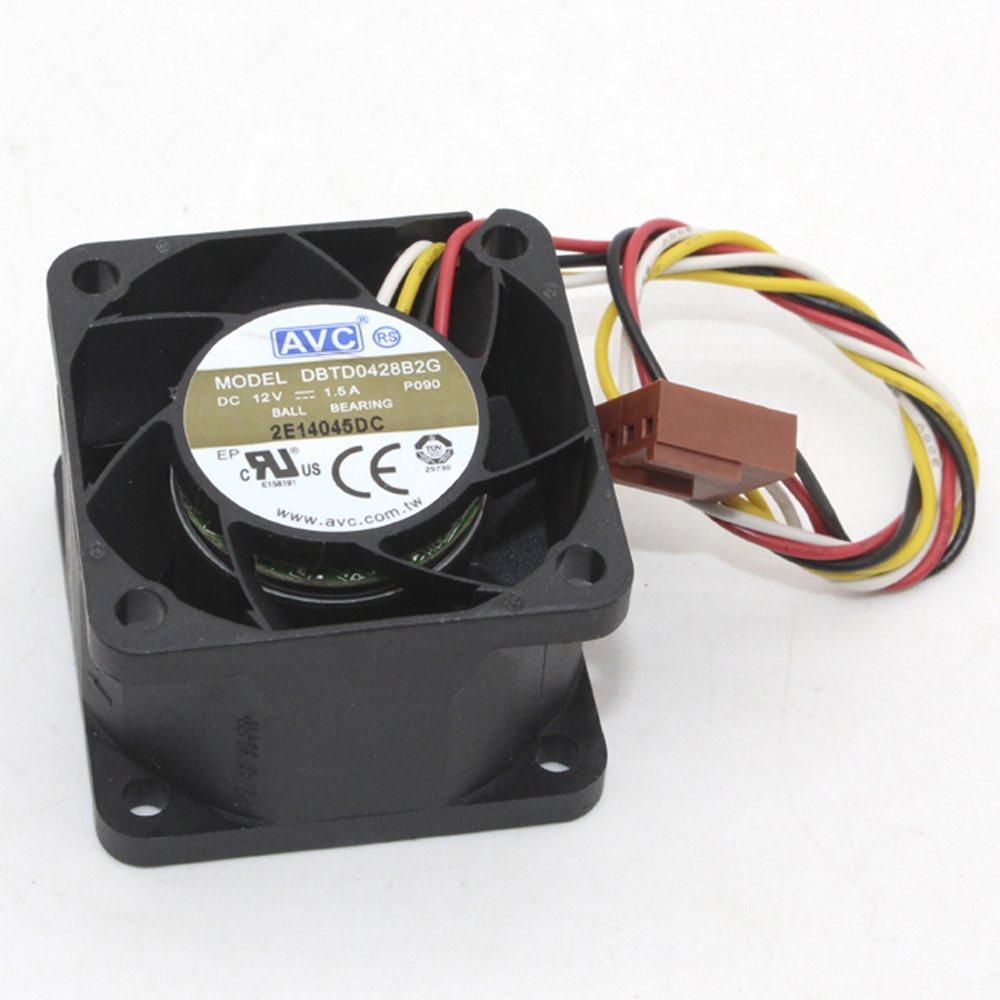 AVC DBTD0428B2G DC12V 1.50A 4-wires  server inverter cooling fan