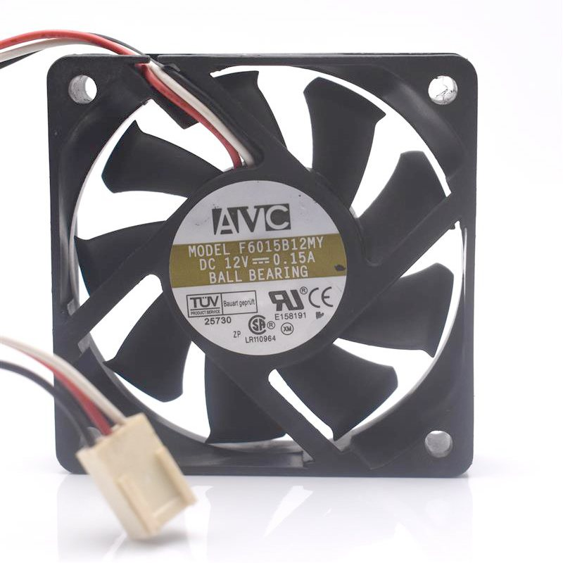 AVC F6015B12MY DC12V 0.15A dual ball mute chassis cooling fan