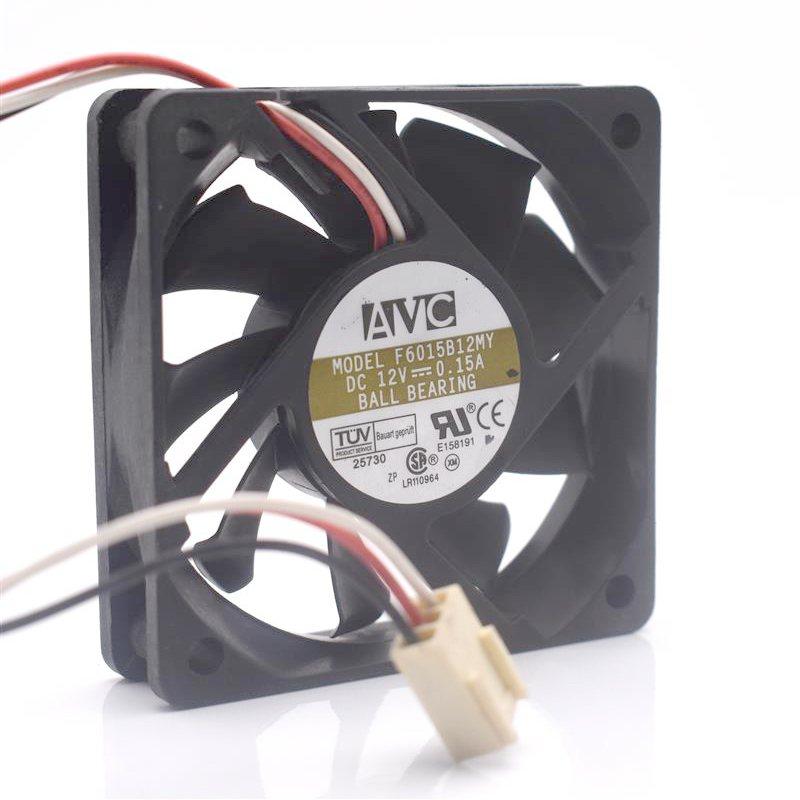 AVC F6015B12MY DC12V 0.15A dual ball mute chassis cooling fan