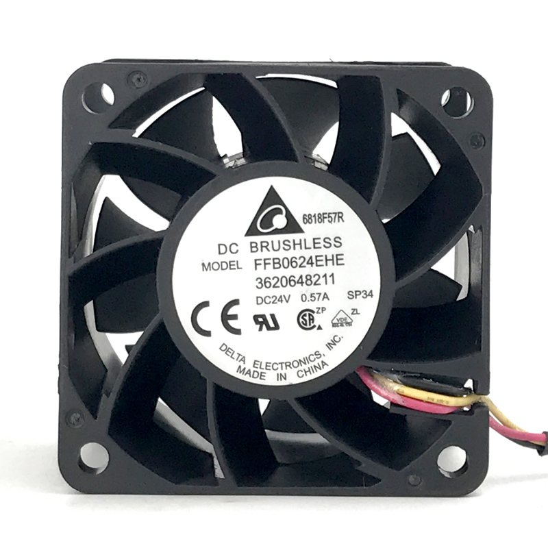 Delta FFB0624EHE DC 24V 0.57A server inverter axial cooling fan