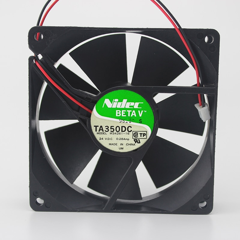 Nidec M34261-16 TA350DC 24V 0.28A 2-wire double ball inverter cooling fan