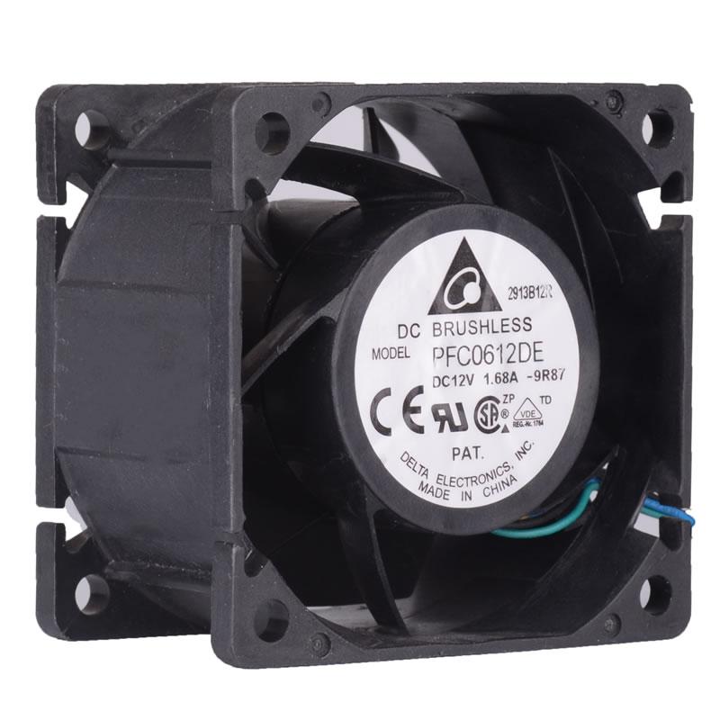 Delta PFC0612DE DC12V 1.68A axial industrial cooling fan