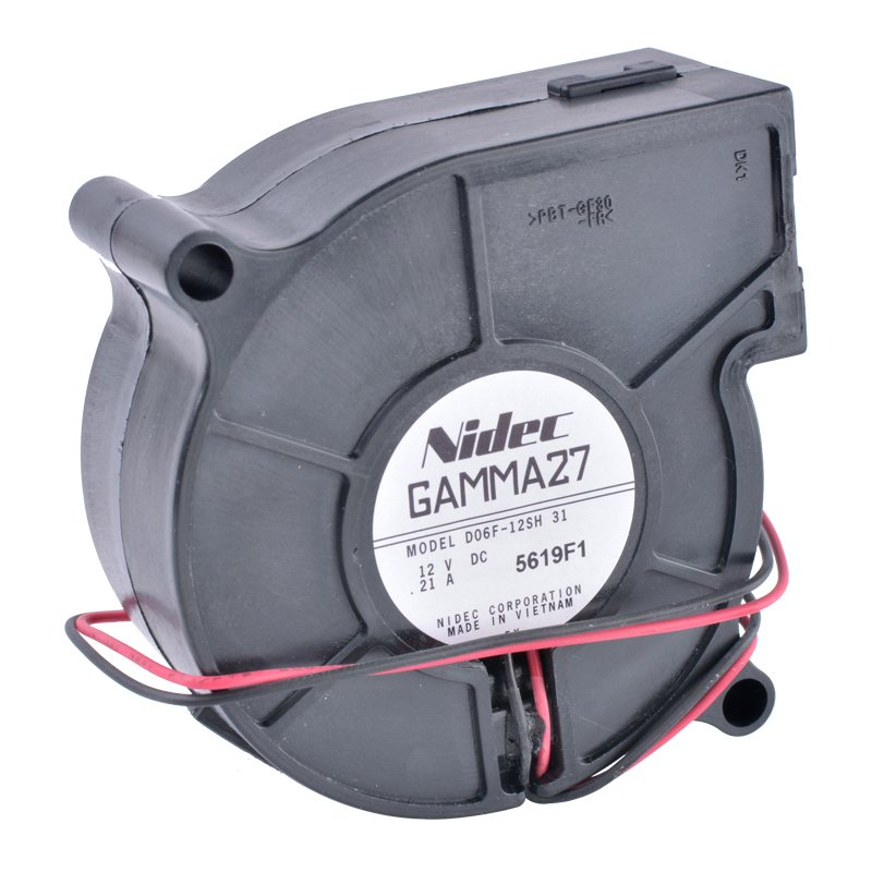 Nidec D06F-12SH DC 12V 0.21A 2-wire centrifugal turbine blower fan