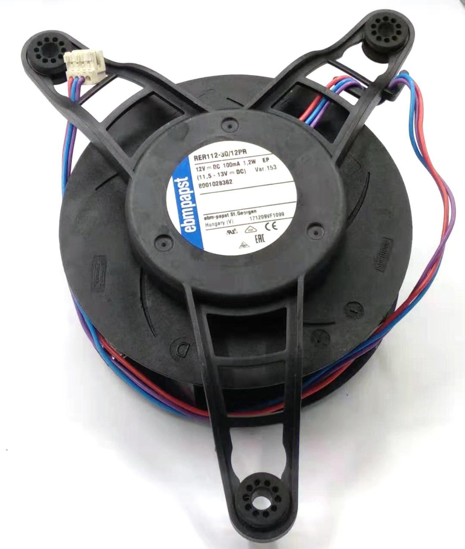 Ebmpapst RER112-30/12PR DC12V 100mA 1.2W 3Lines cooling fan