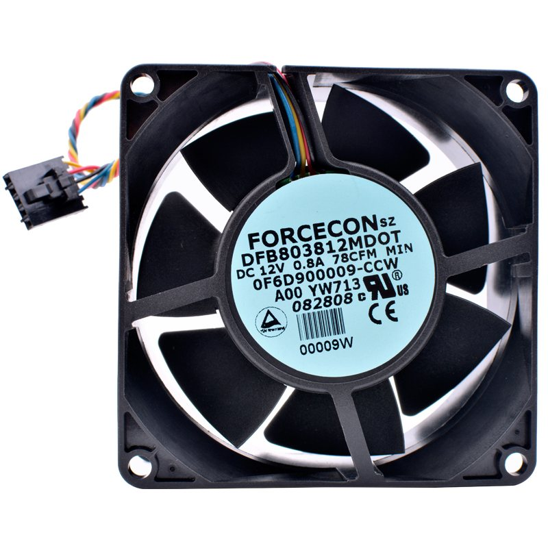 DFB803812MDOT DC12V 0.8A Double ball bearing cooling fan