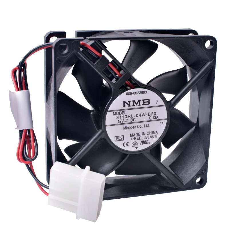 NMB 3110RL-04W-B20 12V 0.13A Double ball bearing cooling fan